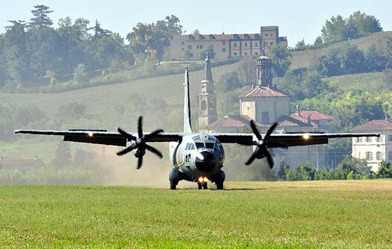 C 27j debuts on the casale monferrato grass runway for Cappa arredamenti casale monferrato